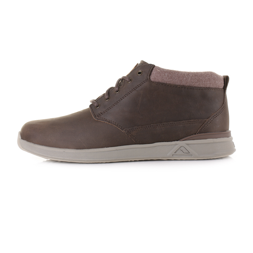 99f59edd12 Details about Mens Reef Rover Mid Fgl Bronze Brown Leather Mid Top Trainers  Shoes Sz Size