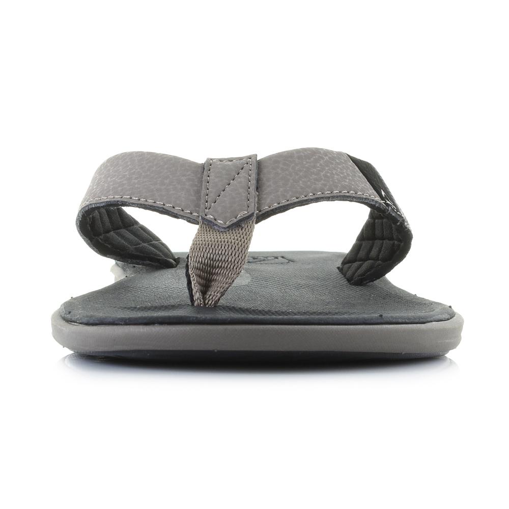 2f22202a633e Mens Reef Slammed Rover Black Tan Slim Profile Comfort Flip Flops UK Size