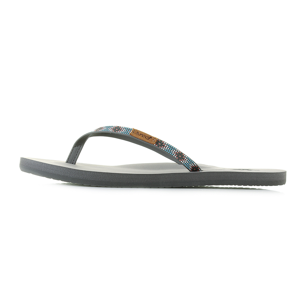 bce6217b28c2 Womens Reef Slim Ginger Beads Turquoise Lightweight Comfort Flip Flops UK  Size
