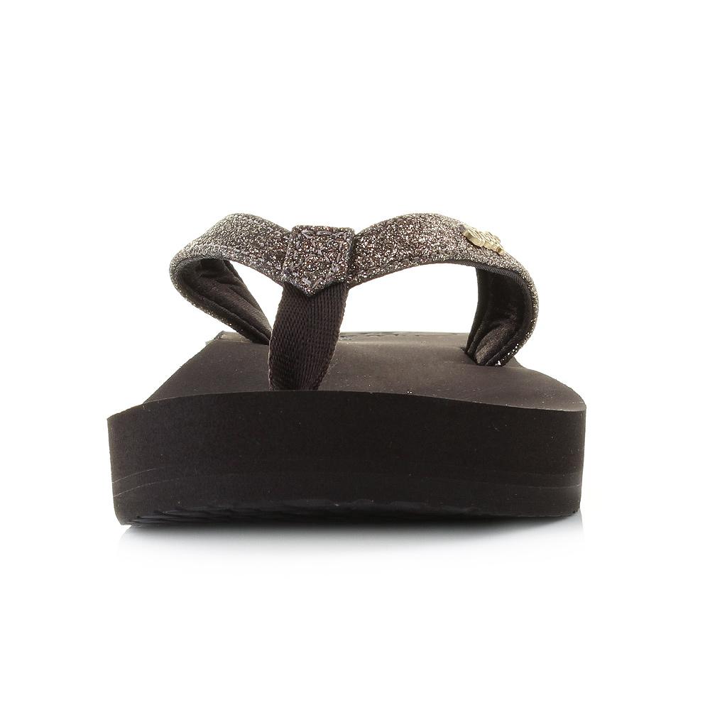 3aa994526ebc64 Womens Ladies Reef Star Cushion Bronze Comfort Stylish Glitter Flip ...