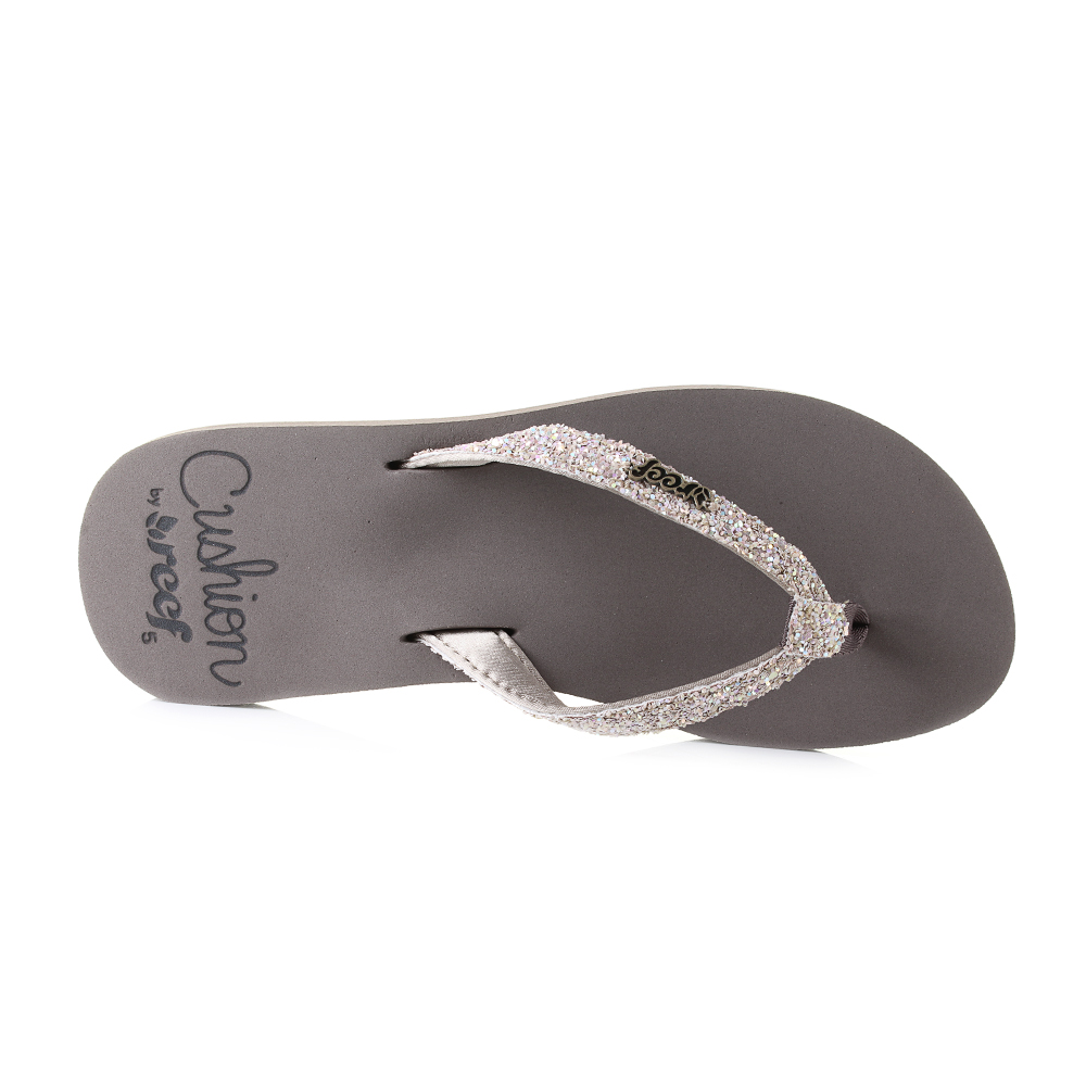 faf90835747bd9 Reef Star Cushion Sandals have been created to offer a comfortable feel  that is perfect for enhancing any casual summer look. The glitter covered  strap ...