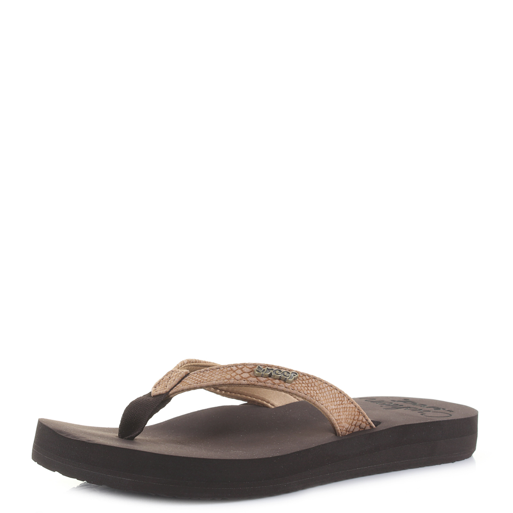 21d3dc10597e Details about Womens Reef Star Cushion Sassy Tobacco Brown Flip Flops  Sandals Shu Size