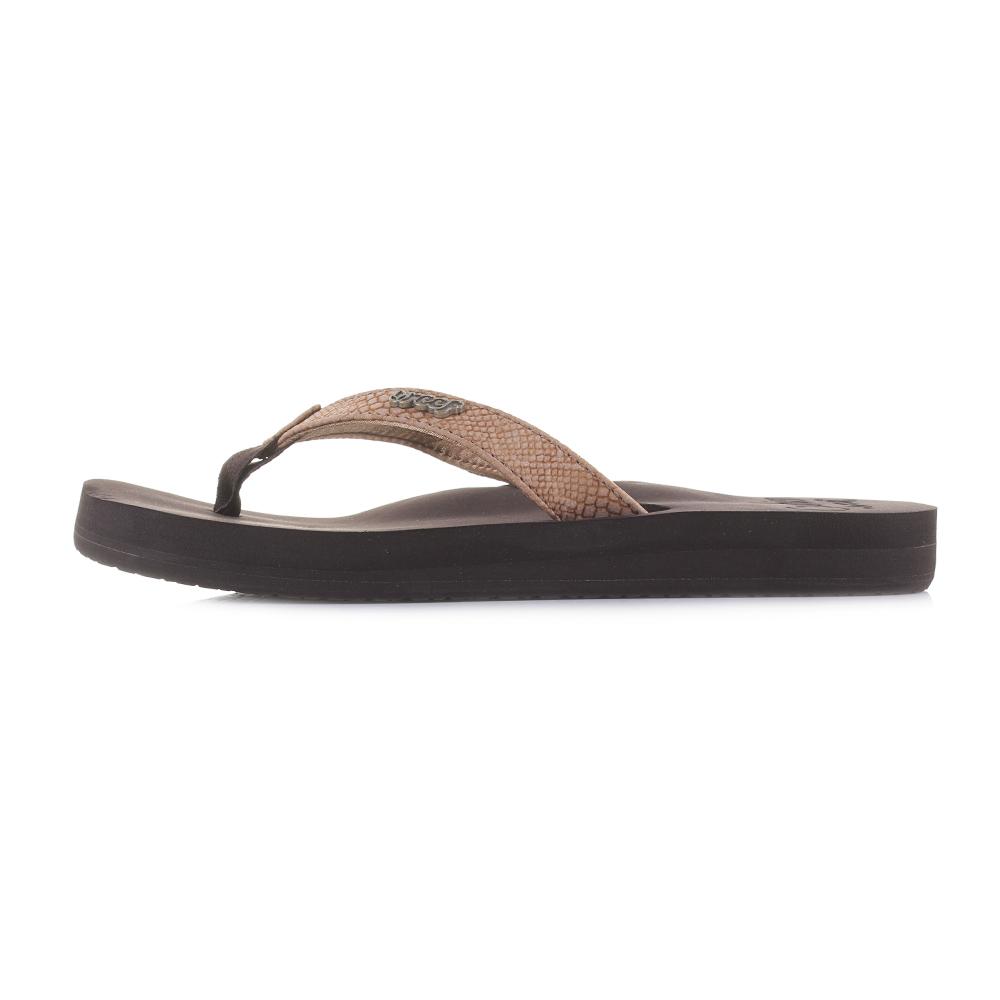 898dbf88834c Womens Reef Star Cushion Sassy Tobacco Brown Flip Flops Sandals Size ...