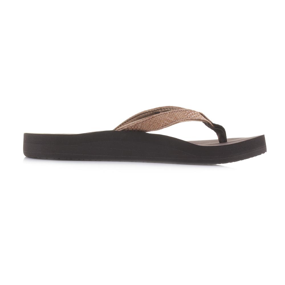 113009216257 Womens Reef Star Cushion Sassy Tobacco Brown Flip Flops Sandals Shu Size