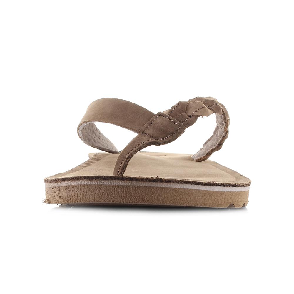 81785ea2781d Womens Reef Voyage Sunset Caramel Brown Leather Sandals Flip Flops Shu Size