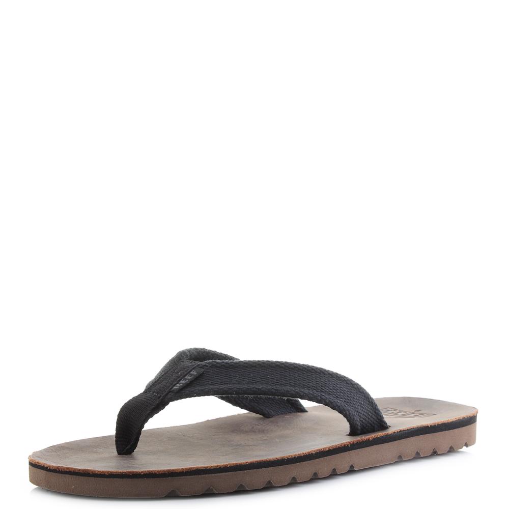 42e65118ac4c Details about Mens Reef Voyage TX Black Dark Brown Waxy Leather Flip Flop  Sandals Shu Size