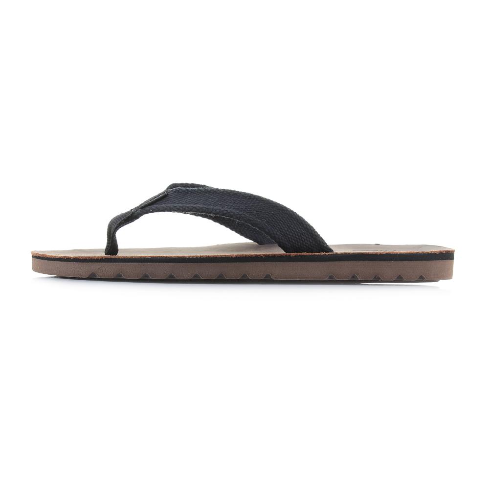 796ef2021c1e Mens Reef Voyage TX Black Dark Brown Waxy Leather Flip Flop Sandals ...
