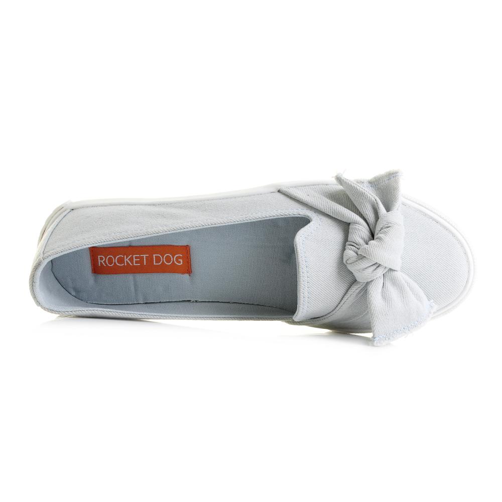 d552ef521399 Womens Rocket Dog Clarita Denim Light Blue Flat Slip On Shoes UK Size