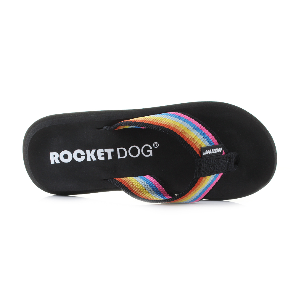 f95443c3c Womens Rocket Dog Spotlight Rainbow EVA Flip Flops Sz Size