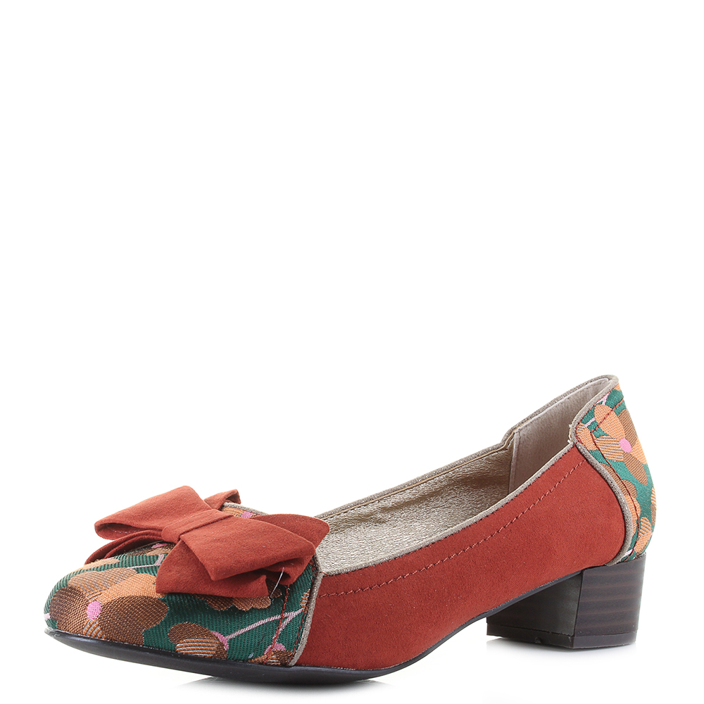 ac8ebef4ca1 Details about Womens Ruby shoo Aurora Russet Low Heel Loafer Shoes Shu Size