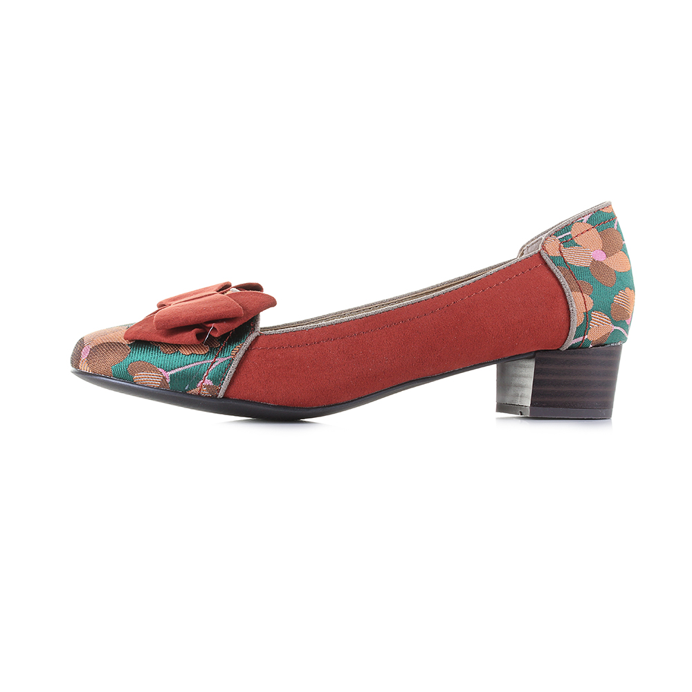 a3c9390d1a1 Womens Ruby shoo Aurora Russet Low Heel Loafer Shoes Size