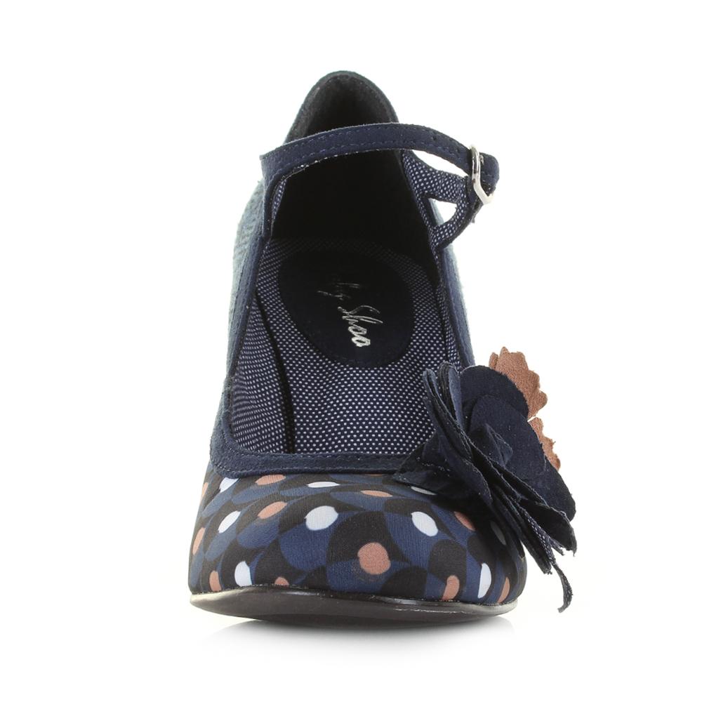 Grey Mid Heel Womens Shoes
