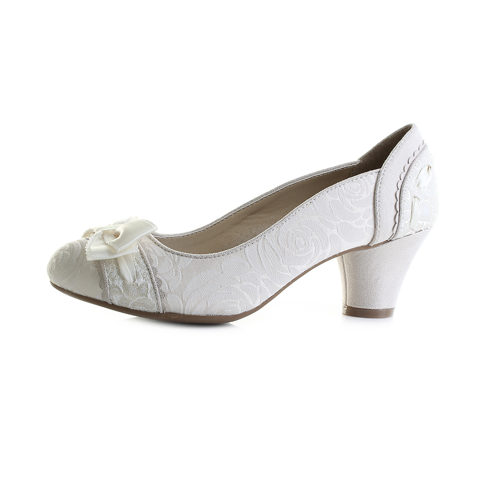 56a77232469 ... Bridal Court Shoes Shu Size. Ruby Shoo Hayley heels have been created  with a classic cream white look that is perfect for matching to many wedding  ...