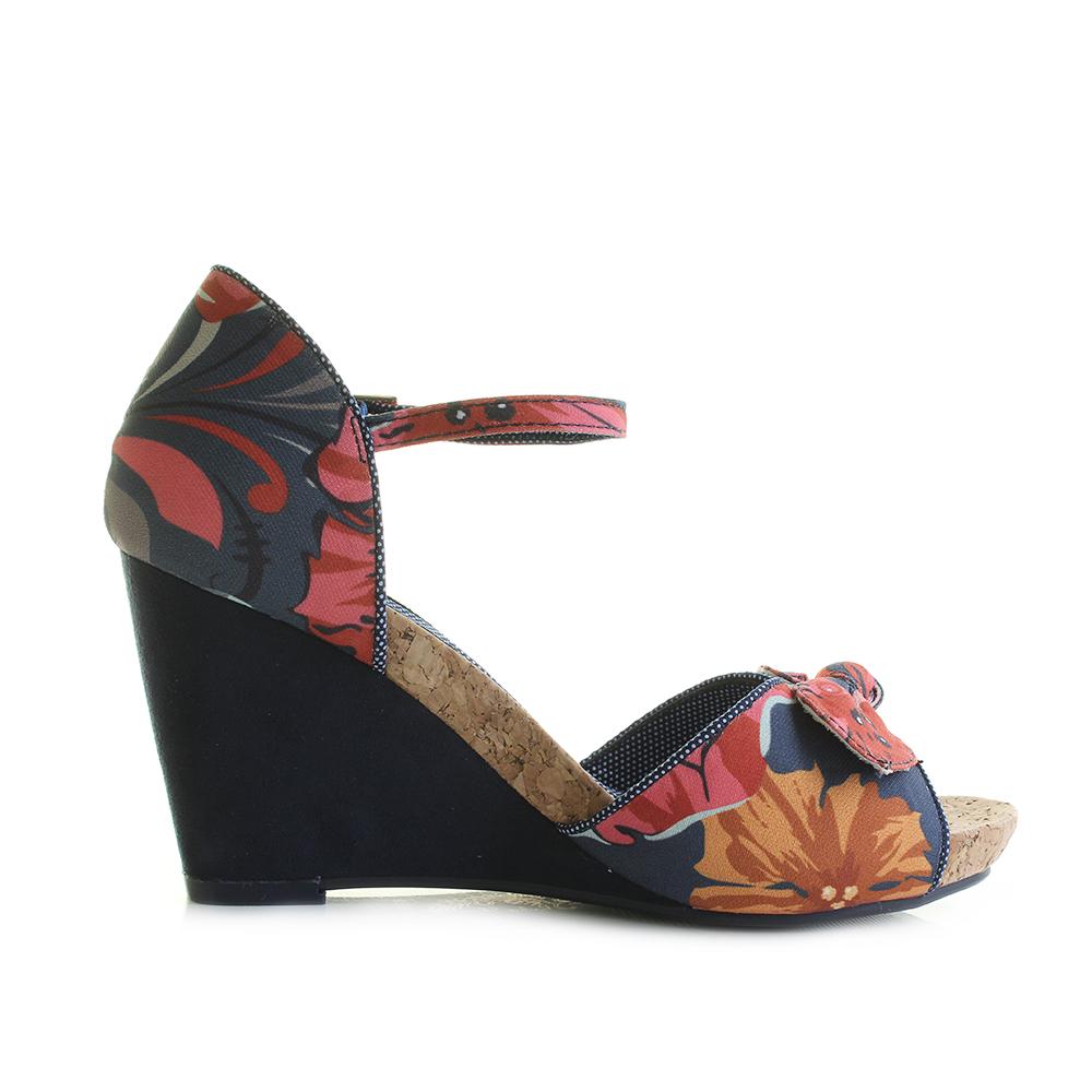 Damenschuhe Ruby Shoo Molly Cork Coral Wedge Heeled Cork Molly Sandales Schuhes UK Größe ... fba11e