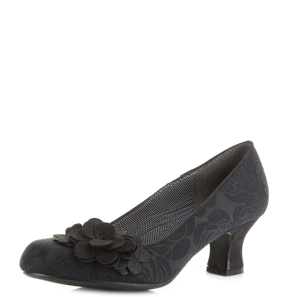 Womens Ruby Shoo Petra Black Low Heel Court Shoes Uk Size