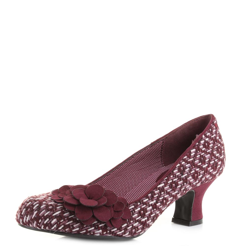 Damenschuhe Ruby Shoo Petra Burgundy Niedrig Heel Größe Court Schuhes UK Größe Heel     f0ad5a