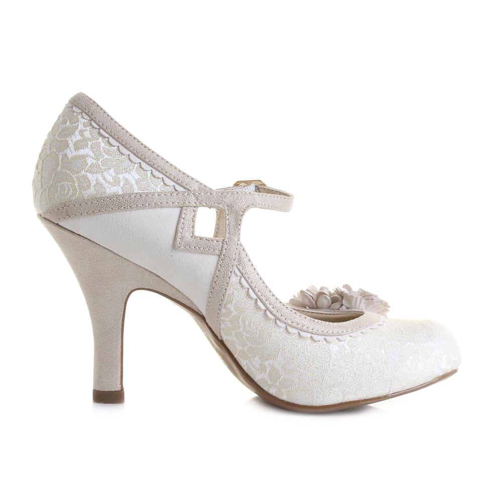 Womens Ruby Shoo Yasmin Cream Court High Heel