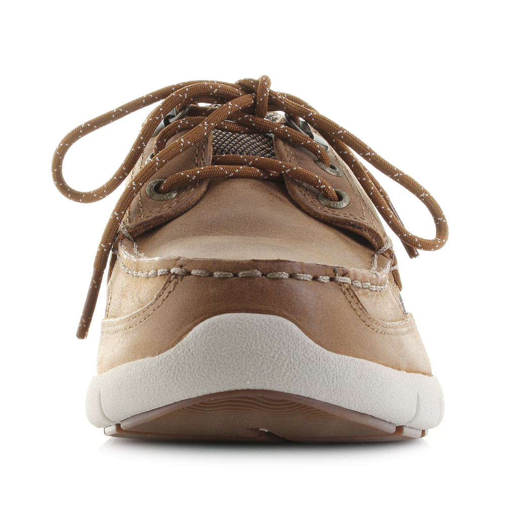 7672caaf085 Mens Sebago Clovhitch Lite FGL Waxed Brown Tan Leather Boat Shoes Shu Size