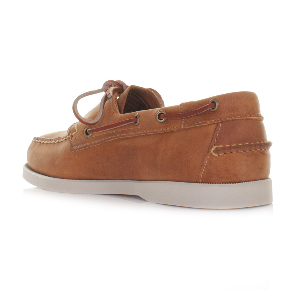 Sebago Sebago Leather Docksides Brown outlet store online qDrRt2
