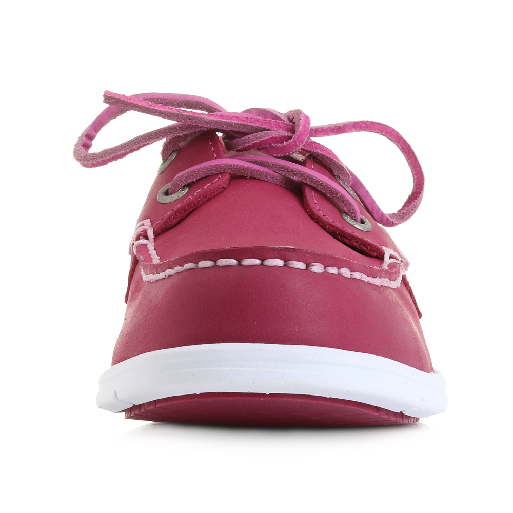 Womens-Sebago-Litesides-Two-Eye-Dark-Pink-Boat-Shoes-Shu-Size