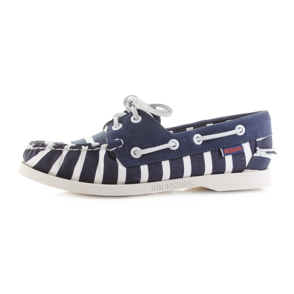 Sebago SPINNAKER STRIPE - Boat shoes - navy/white RgGxJ