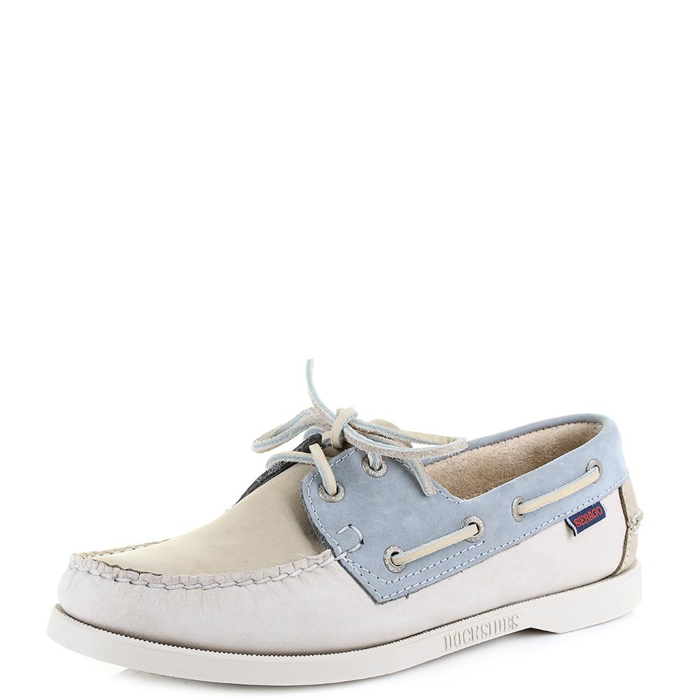 bd0afac4dc15 Womens Sebago Spinnaker Taupe Beige Grey Nubuck Boat Deck Shoes Sz