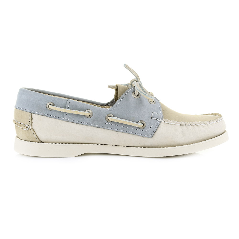 869c1b240d698 Womens Sebago Spinnaker Taupe/Beige/Grey Nubuck Boat Deck Shoes Size ...