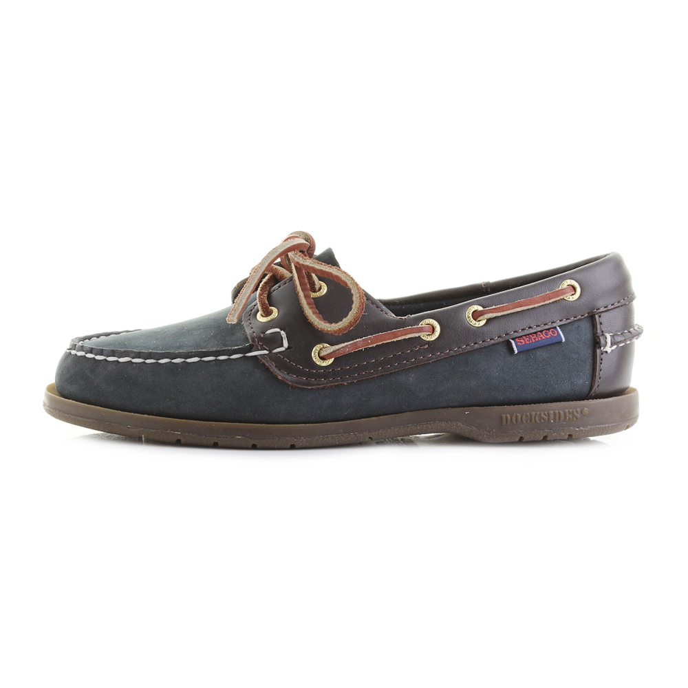 Womens Sebago Victory Navy Wine Full Leather Brown Blue Boat Shoes Shu Size 8e23fa38d
