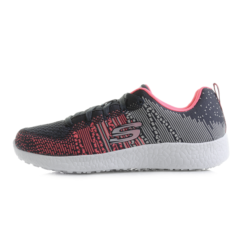 32de874dda21 Skechers 12437 Burst Ellipse Charcoal Pink Womens Shoes Casual 8. About  this product. Picture 1 of 5  Picture 2 of 5 ...
