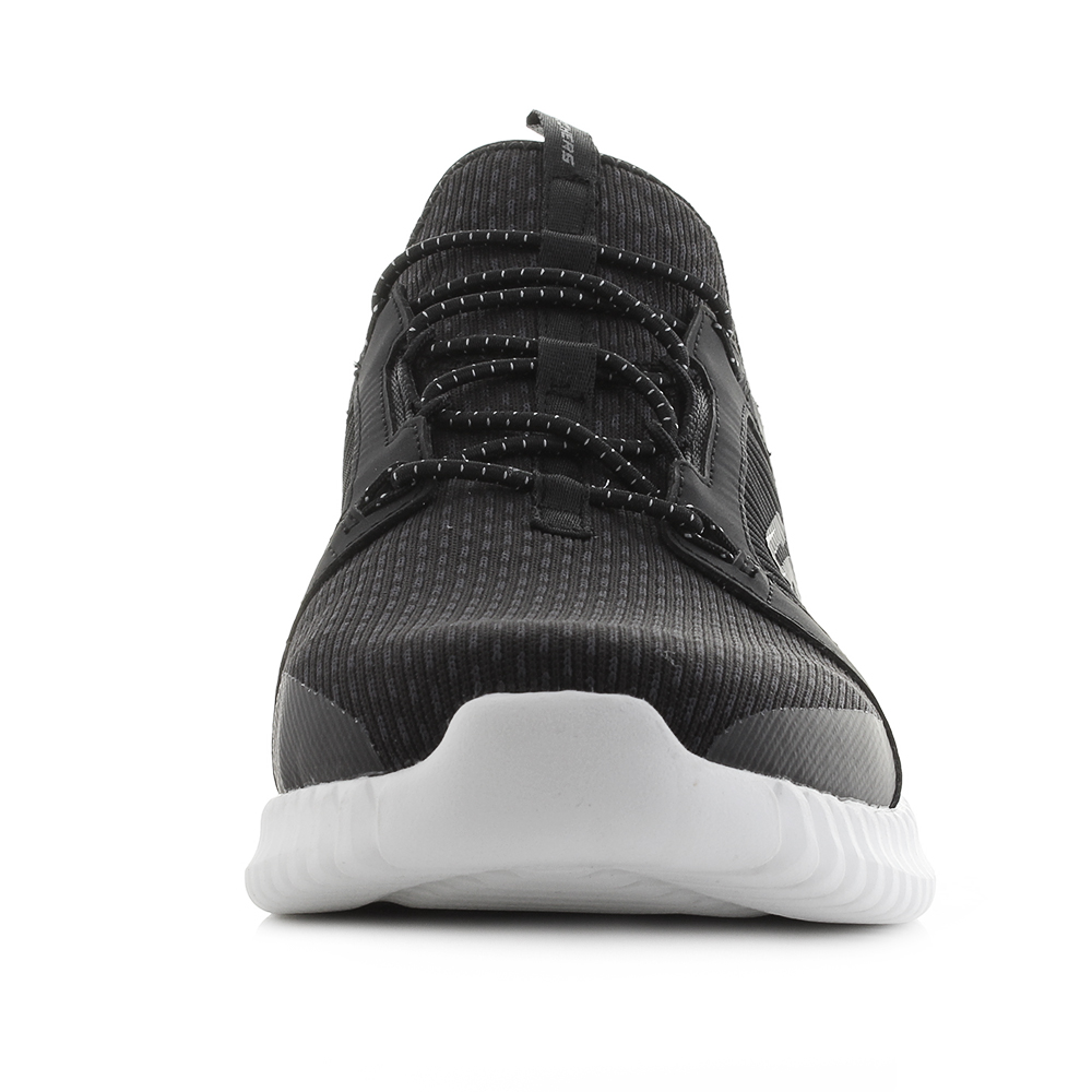 181dd9278b5c2 Mens Skechers Elite Flex Black White Sport Trainers Shu Size   eBay