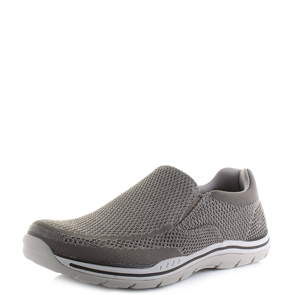 d0190c0751e052 Details about Mens Skechers Expected Gomel Taupe Lightweight Slip On Shoes  Shu Size