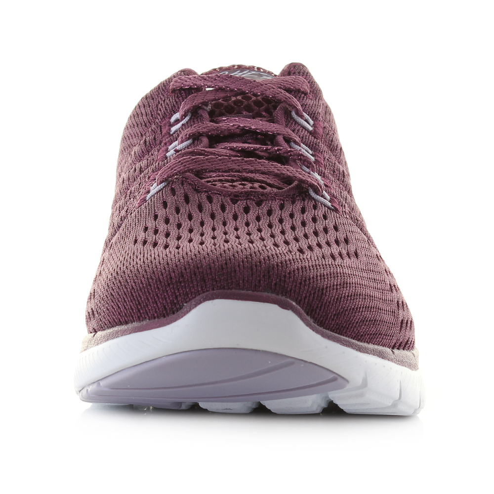 finest selection eaf8f 77cb5 Womens Skechers Flex Appeal 3.0 Satellites Wine Deep Red Trainers UK Size