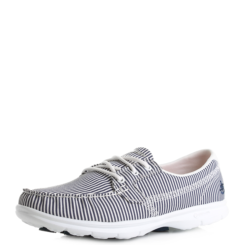 Skechers Step Sandy Shoes Navy White