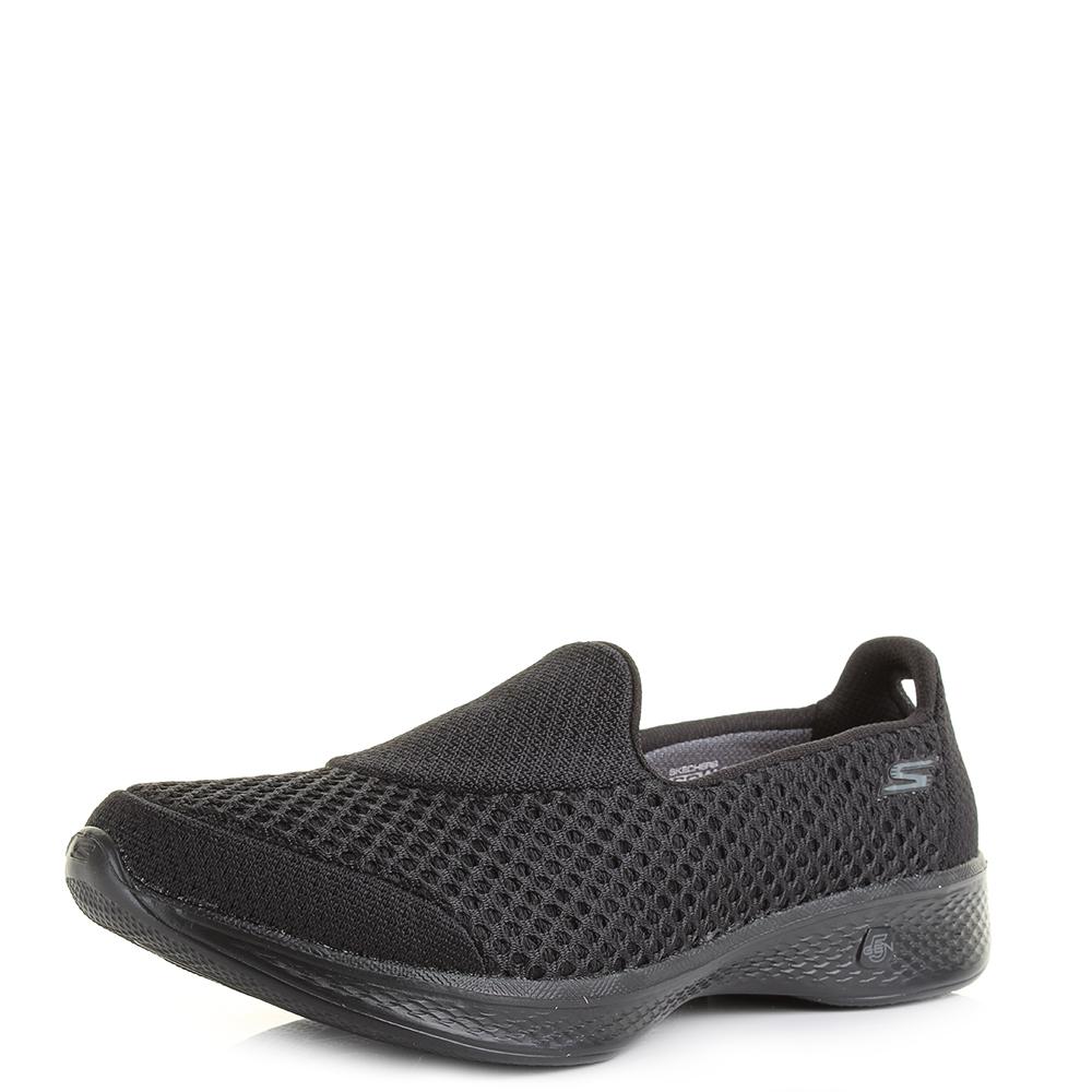 Damenschuhe Skechers Comfort Go Walk 4 Kindle schwarz Lightweight Comfort Skechers Schuhes Shu 67af5b