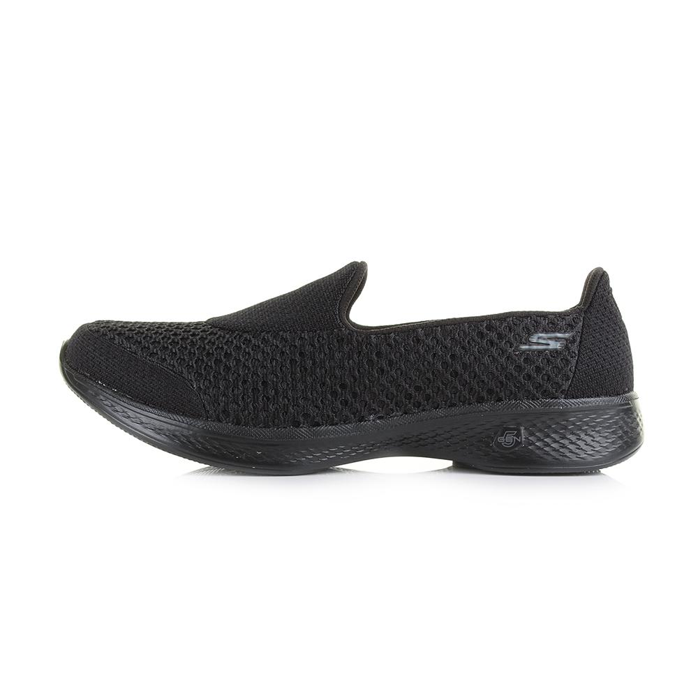 Womens-Skechers-Go-Walk-4-Kindle-Black-Lightweight-