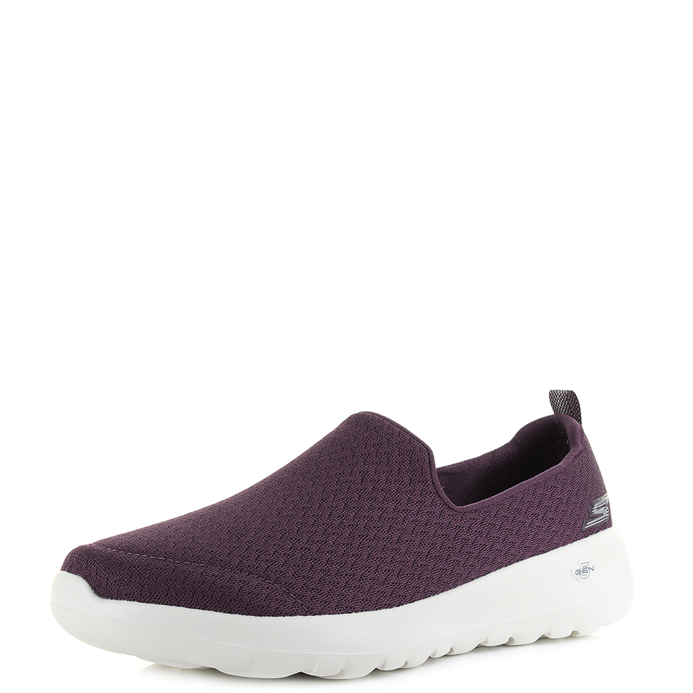 96b4145b7dd9f Womens Skechers Go Walk Joy Rejoice Burgundy Slip on Comfort Shoes Sz Size