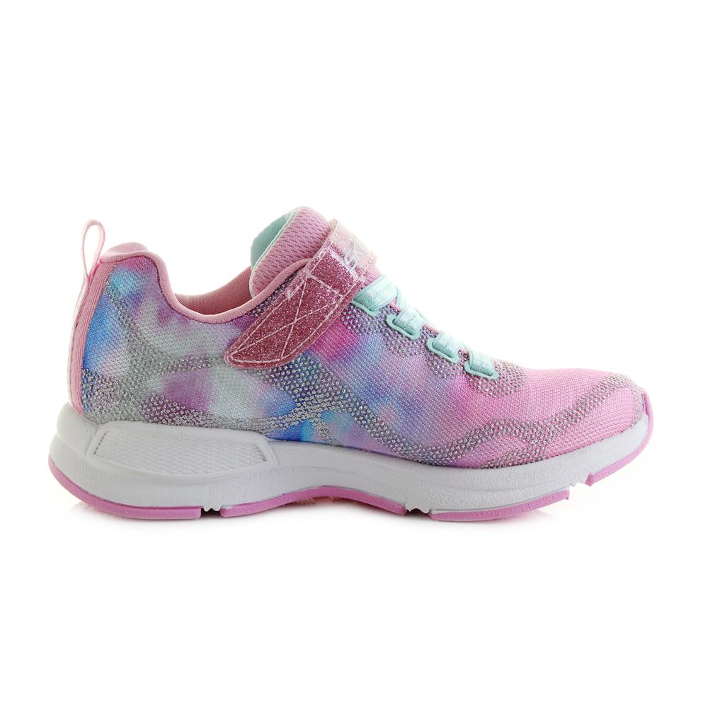 df6ac142d903 Girls Skechers Jumptech Dreamy Daze Light Pink Glitter Trainers UK Size