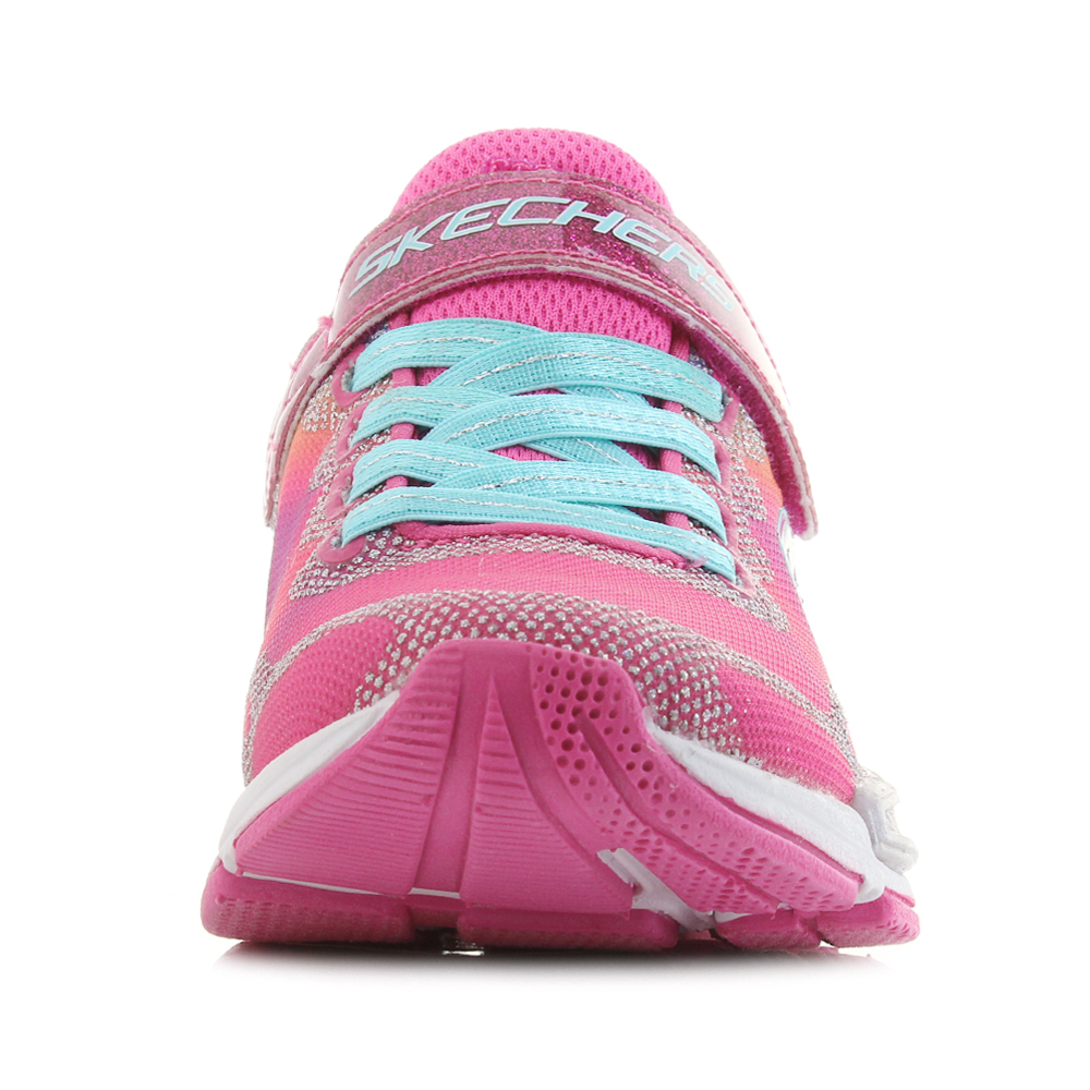 5a3ace12b7cc Kids Skechers Jumptech Dreamy Daze Neon Pink Multi Lightweight Trainers Sz  Size