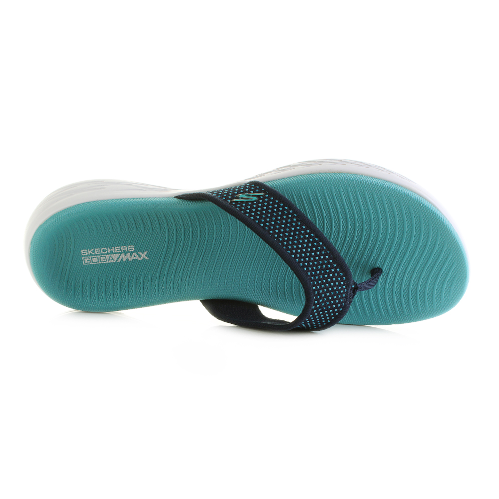 2196c2759e Skechers on The Go 600 Womens Footwear Sandals - Navy Turquoise All ...