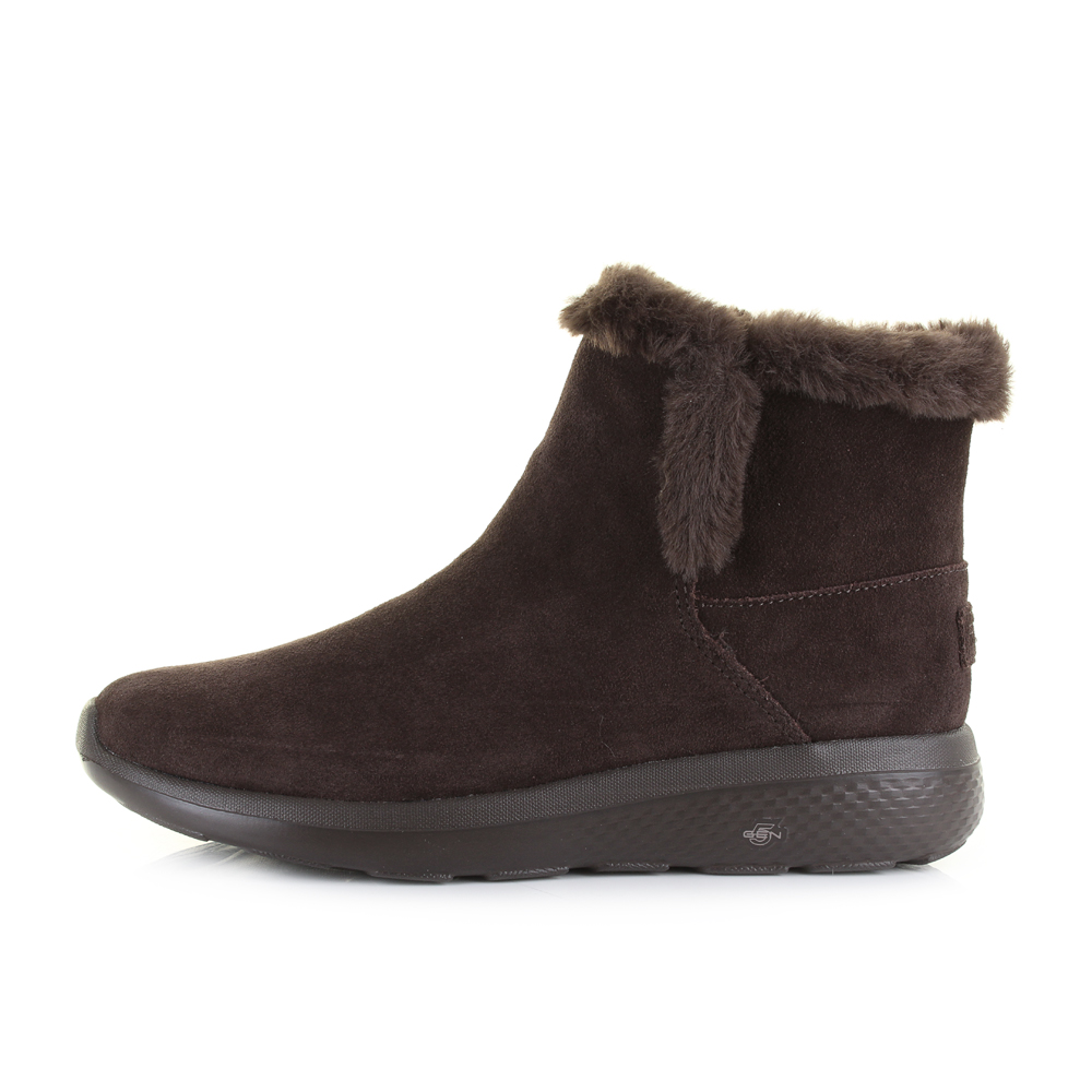 7fa39a3a1e26 Womens Skechers On The Go City 2 Bundle Chocolate Brown Winter Boots Size