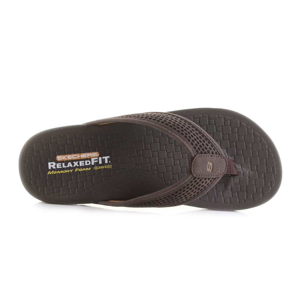 1f011f657e62 ... Emiro Dark Brown Comfort Flip Flops Size. The Skechers Pelem mens flip  flop offers a classic look that is perfect for matching to any casual  summer ...