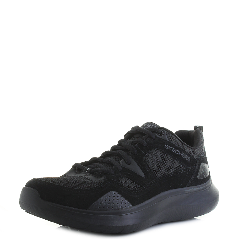 562594f7c8fa Mens Skechers Quantum Flex Country Walker Black Lightweight Trainers Size