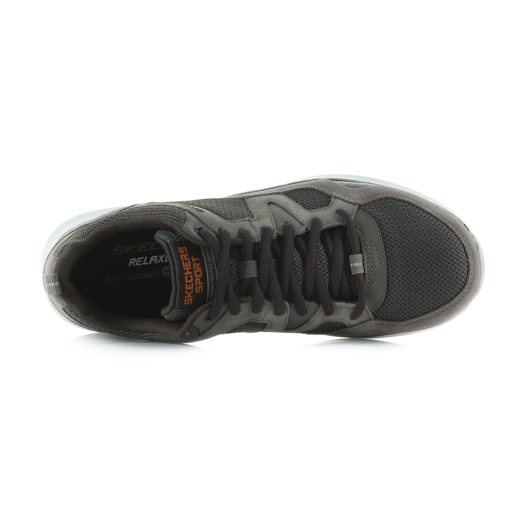 bb970bde7362 Enjoy a nice walk outdoors in sporty style and flexible comfort with the  SKECHERS Relaxed Fit Quantum Flex - Country Walker shoe. Soft suede and  mesh fabric ...