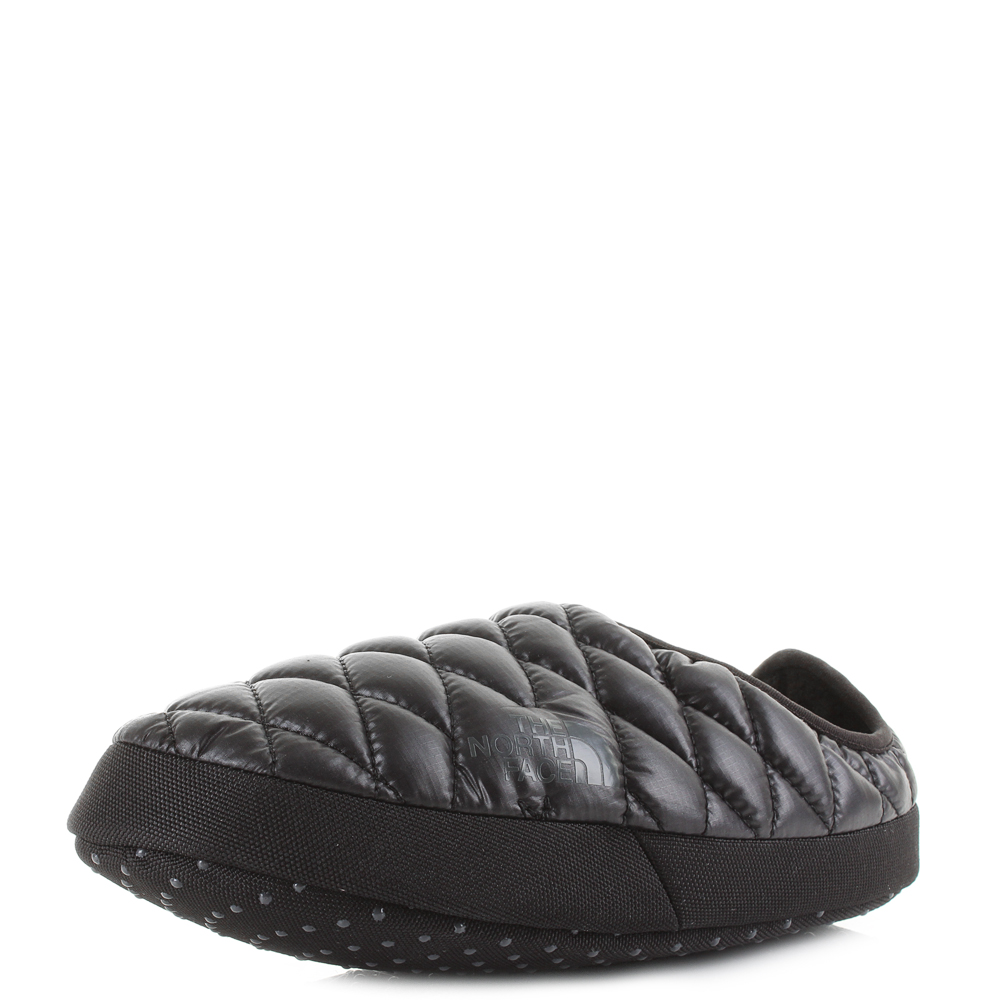 e4a26d2c8c8066 Details about Womens The North Face Thermoball Tent 4 Shiny TNF Black Slippers  Mules Size