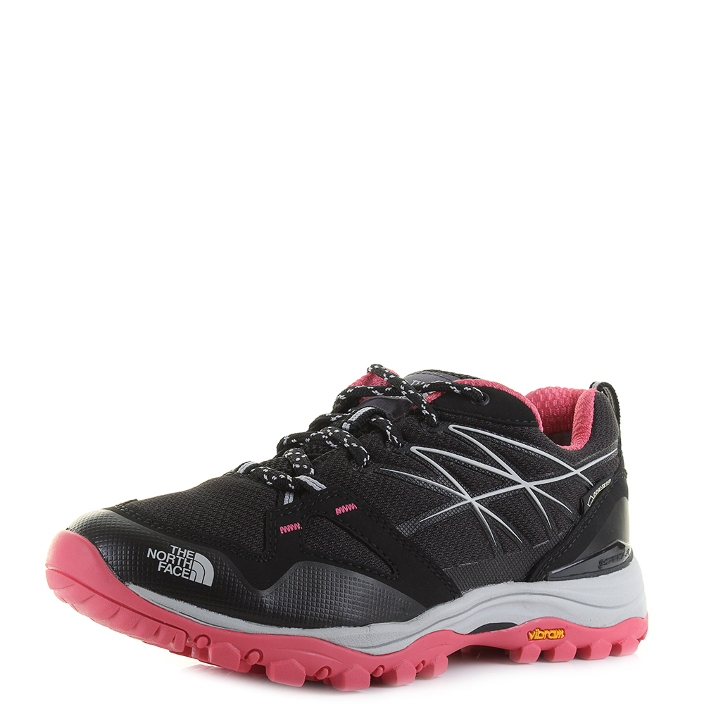 9d8af2ca2 Details about Womens The North Face Hedgehog Fastpack GTX Black Atomic Pink  Trainers Size