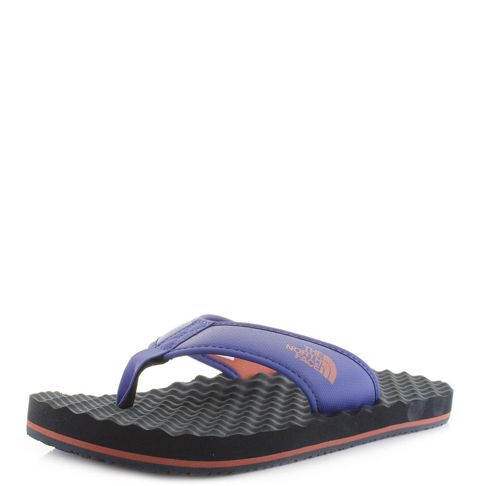 73f4f300aa3 Details about Mens The North Face Base Camp Flip Flop Blue Orange Flip Flop  Sandals UK Size