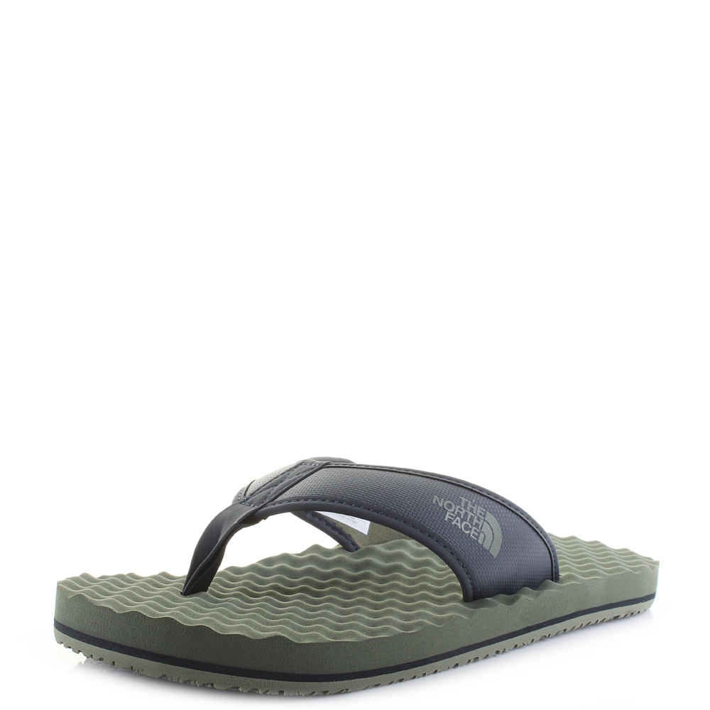 f0a480b1584 Details about Mens The North Face Base Camp Flip Flop Green Urban Navy  Sandals Size