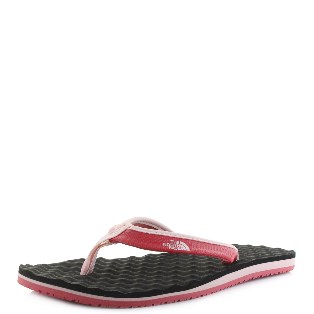 Womens The North Face Camp Mini Sunbaked Red Flip Flops Sz