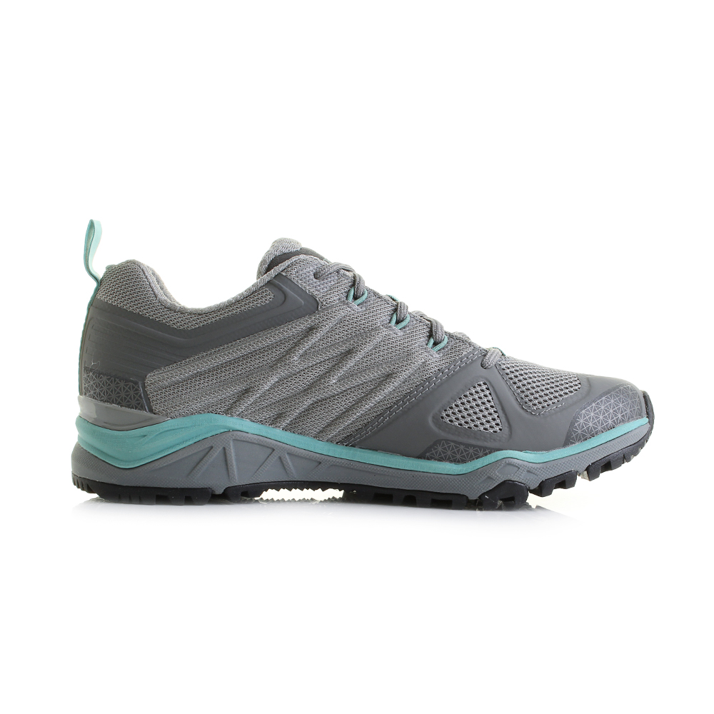 Womens The North Face Ultra Fastpack 2 GTX Grey Green Walking Shoes Size 6c2f6a0b1197