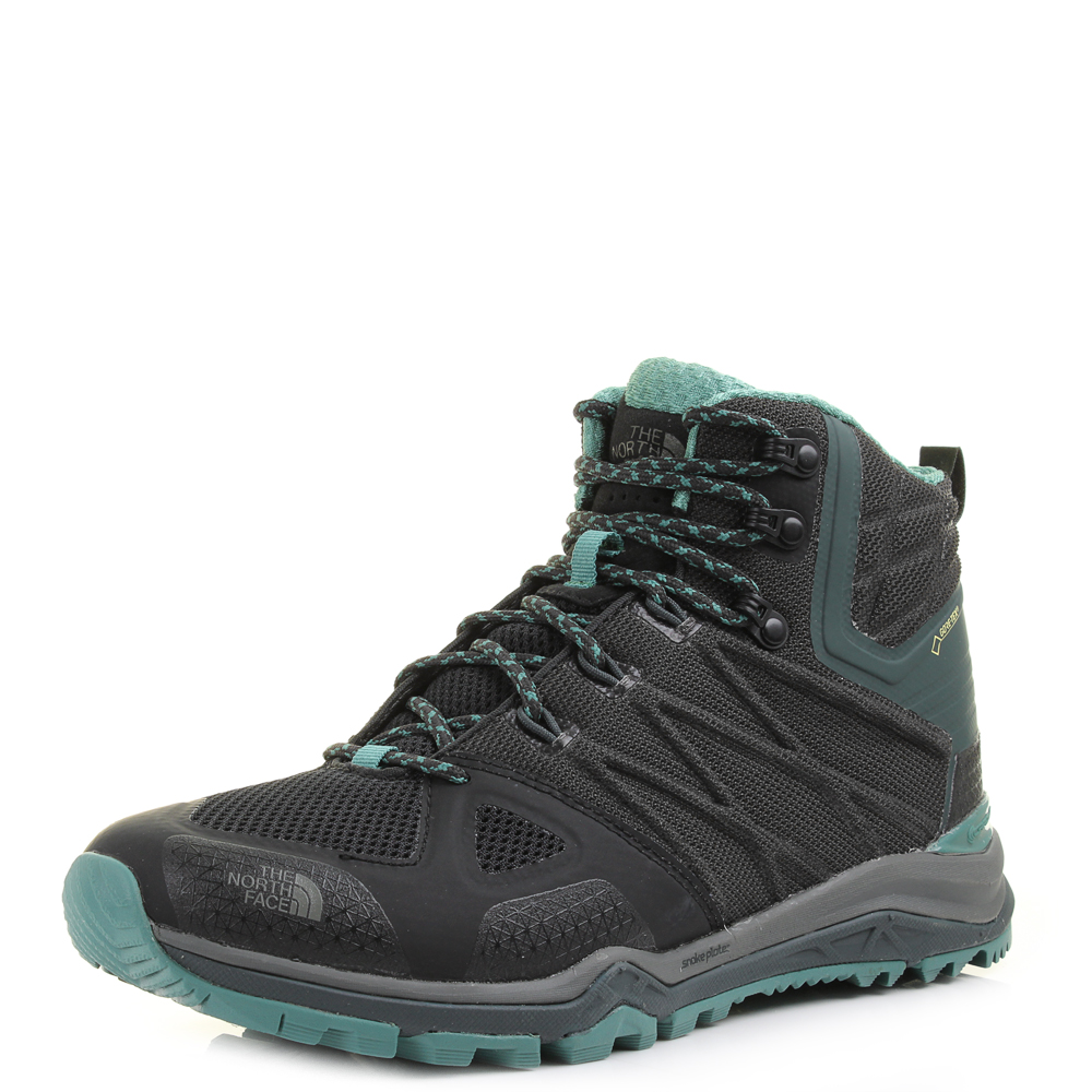 b944af608 Details about Womens The North Face Ultra Fastpack 2 Mid GTX Black Sea  Hiking Shoes UK Size